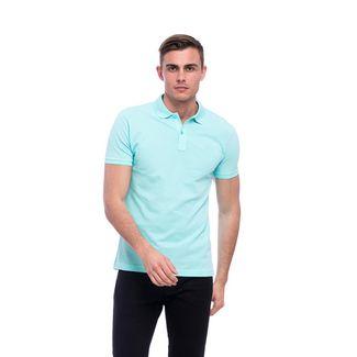 Tom Barron Elegantes Kurzarm Polo Shirt Poloshirt Herren blau