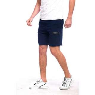Tom Barron Reißverschluss Design Shorts Shorts Herren dunkelblau