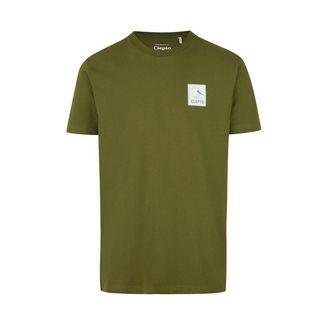 Cleptomanicx Printshirt Herren Rifle Green