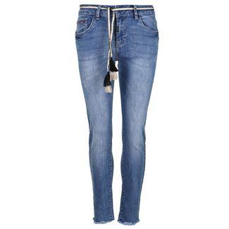 Blue Monkey VIVI 10448 Straight Fit Jeans Damen blue