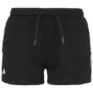 KAPPA Goodje Shorts Damen schwarz / weiß
