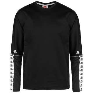 KAPPA Gajus Sweatshirt Herren schwarz / weiß