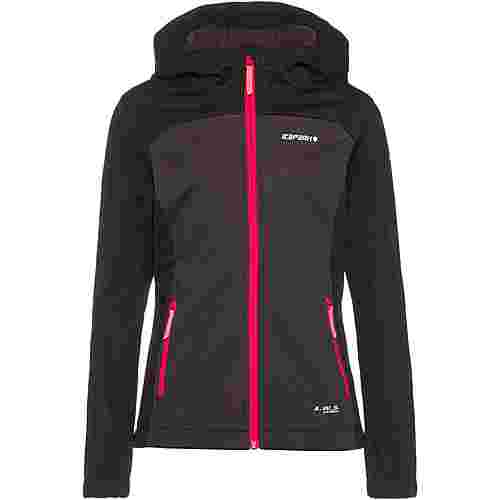 ICEPEAK Lamesa Jr Softshelljacke Kinder black-grey