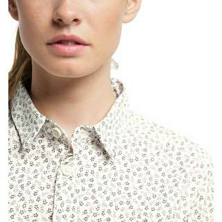 Haglöfs Idun SS Shirt Outdoorhemd Damen Soft white flower