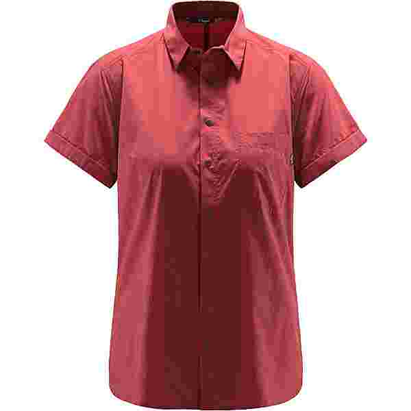 Haglöfs Idun Lite SS Shirt Outdoorhemd Damen Brick red