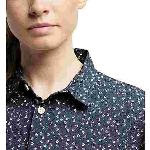 Haglöfs Idun SS Shirt Outdoorhemd Damen Dense blue flower