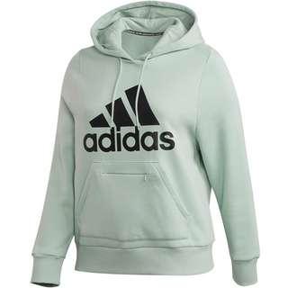 adidas Plus Size Hoodie Damen green tint
