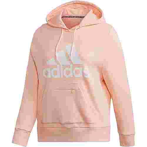 adidas Plus Size Hoodie Damen haze coral
