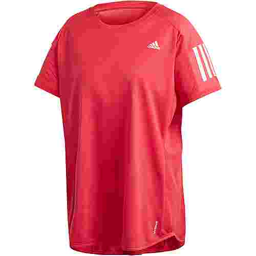 adidas Plus Size Funktionsshirt Damen power pink