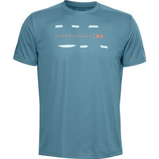 Under Armour Speed Stride Funktionsshirt Herren lichen blue-enamel blue-reflective