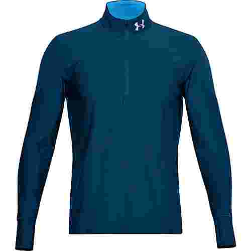 Under Armour Qualifier Funktionsshirt Herren graphite blue-electric blue-reflective