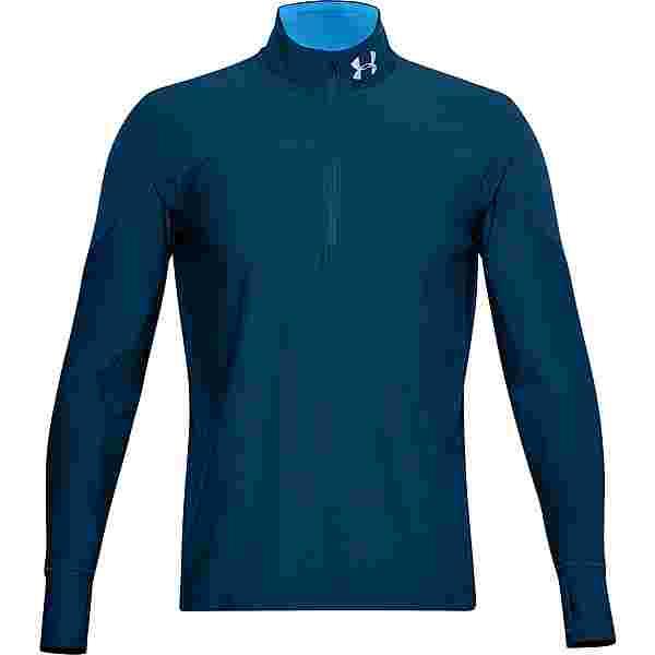 Under Armour Qualifier Funktionsshirt Herren graphite blue-electric blue-reflective