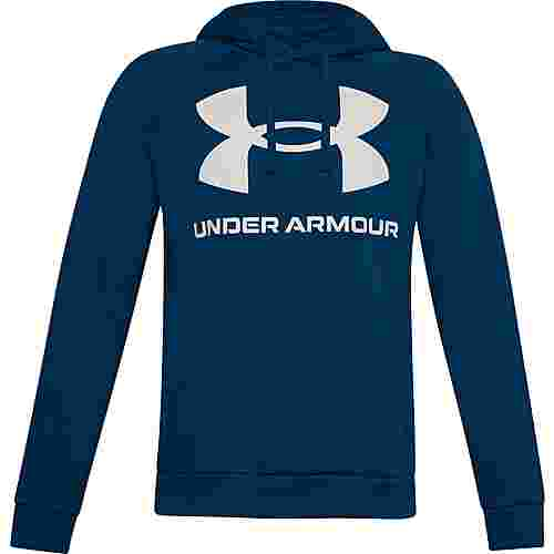 Under Armour Rival Hoodie Herren graphite blue-onyx white