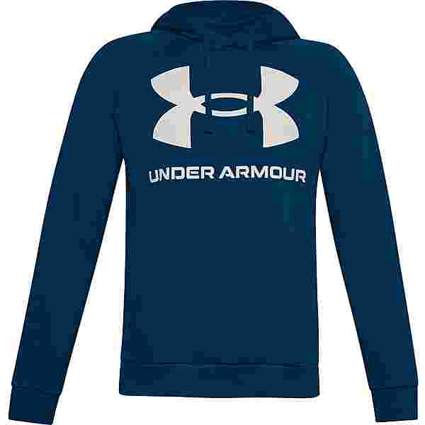 Under Armour Rival Hoodie Herren graphite blue-onyx white