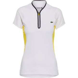 Lacoste CHEMISE COL BORD-COTES MA Tennisshirt Damen blanc-blanc-blanc-marine-