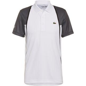 Lacoste CHEMISE COL BORD-COTES MA Tennis Polo Herren blanc-noir-noir-noir