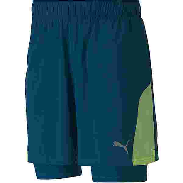 PUMA Run Favorite Funktionsshorts Herren digi-blue-fizzy yellow