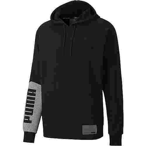 PUMA Train Graphic Hoodie Herren puma black-puma white