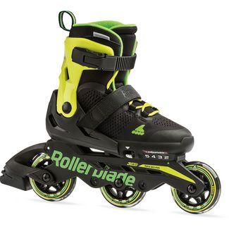 ROLLERBLADE MICROBLADE 3WD Inline-Skates Kinder black-lime