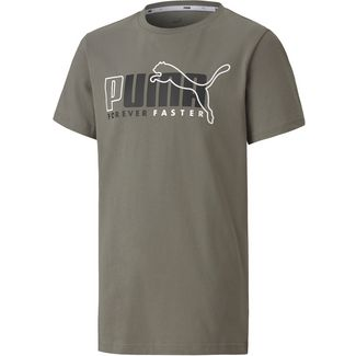 PUMA T-Shirt Kinder ultra gray
