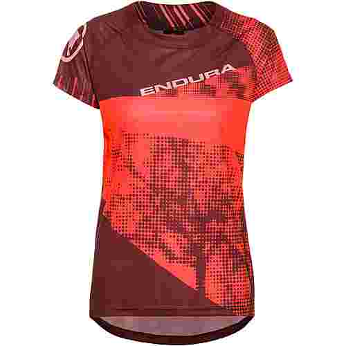 Endura SingleTrack Dots T-Shirt LTD Funktionsshirt Damen hi-viz-koralle