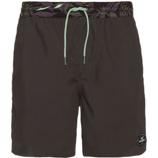O'NEILL Badeshorts Herren grey short with grey-green aop waist
