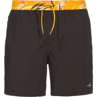 O'NEILL Badeshorts Herren grey short with yellow aop waist