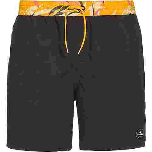 O'NEILL Badeshorts Herren grey short with yellow aop waist