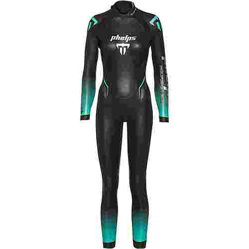 phelps AQUASKIN 2.0 Neoprenanzug Damen black turquoise