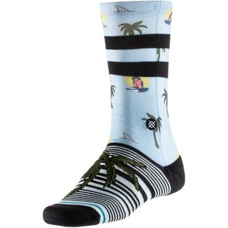 Stance Aloha Monkey St Sneakersocken Damen lightblue