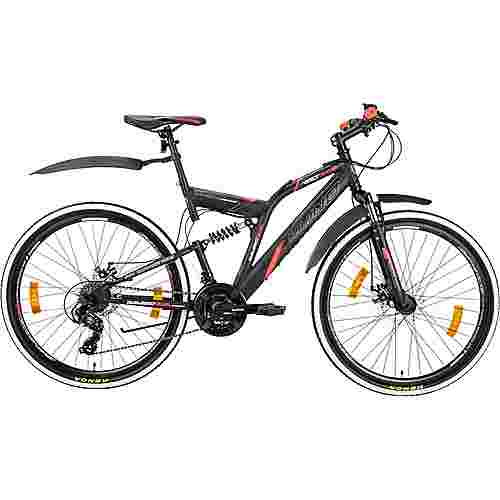 Galano Volt DS 26 Zoll Fully Jugendrad MTB Hardtail schwarz/rot