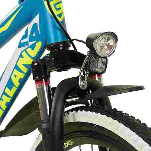"Galano Adrenalin DS 24"" Fully Jugendrad Dirt Bike blau/grün"