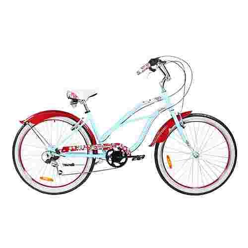 "Galano Malibu 26"" Beach Cruiser Fahrrad Trekkingrad sky blau"