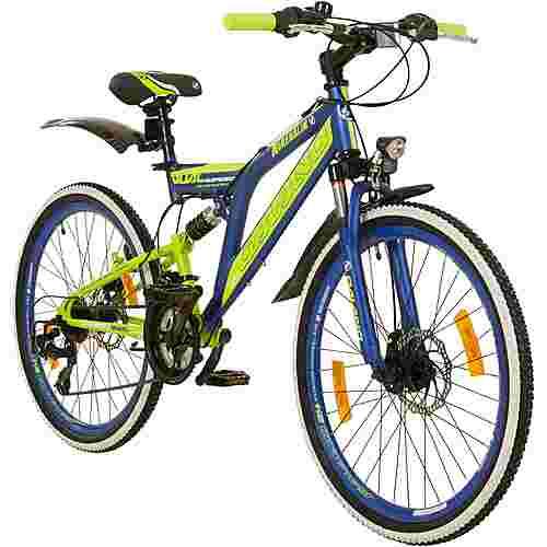 "Galano Adrenalin DS 24"" Fully Jugendrad Dirt Bike dunkelblau"