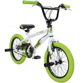 "DeTox 16"" BMX Kinderfahrrad BMX Kinder weiß/grün"
