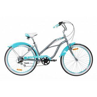"Galano Malibu 26"" Beach Cruiser Fahrrad Trekkingrad metallgrau"