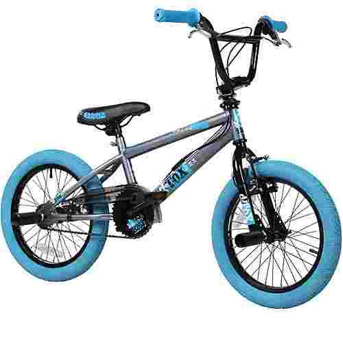 "DeTox 16"" BMX Kinderfahrrad BMX Kinder grau/blau"