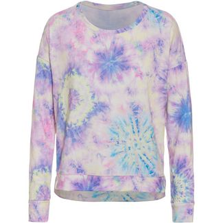 Onzie High Low Sweatshirt Damen neon tie dye