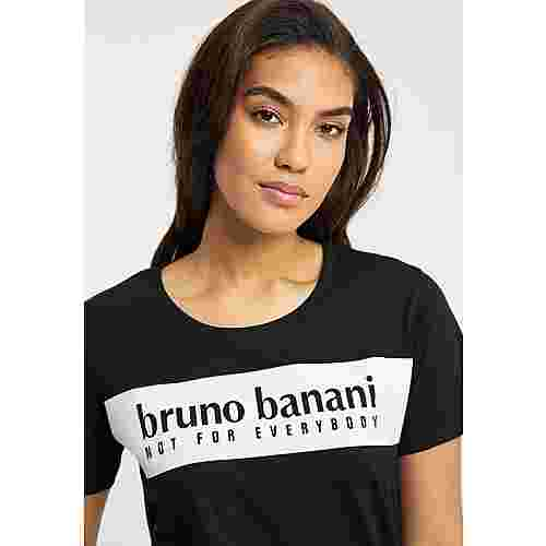 BRUNO BANANI Printshirt Damen Schwarz