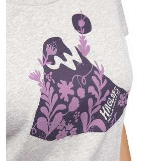 Haglöfs Mirth Tee Funktionsshirt Damen Grey melange/purple milk