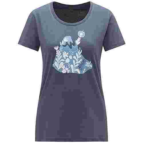 Haglöfs Mirth Tee Funktionsshirt Damen Dense blue/silver blue