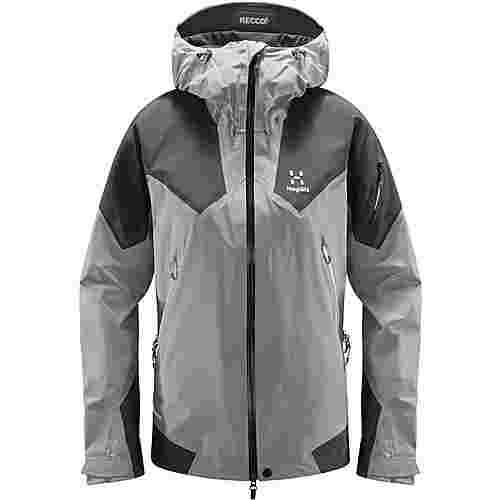 Haglöfs GORE-TEX® Roc Spire Jacket Hardshelljacke Damen Concrete/magnetite