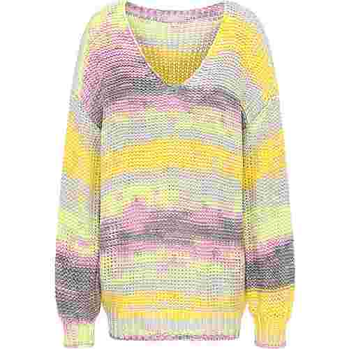 Usha Strickpullover Damen wollweiss multicolor
