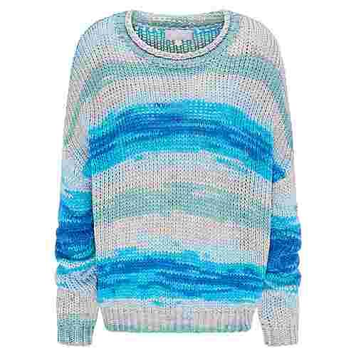 Usha Strickpullover Damen blau multicolor