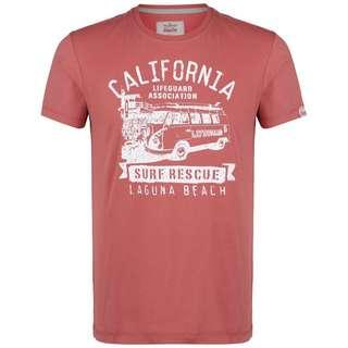 VAN ONE Laguna T-Shirt Herren rot / weiß