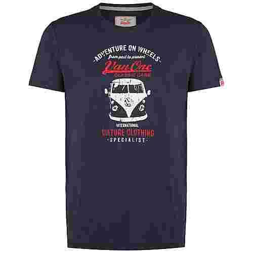 VAN ONE Bulli Front T-Shirt Herren dunkelblau / weiß