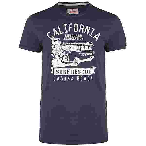 VAN ONE Laguna T-Shirt Herren dunkelblau / weiß