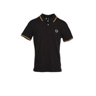 SERGIO TACCHINI Sergio 020 Polo Poloshirt Herren blk/safyel