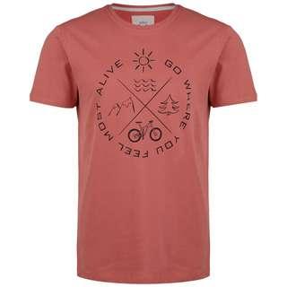 VAN ONE Most Alive T-Shirt Herren rot / schwarz