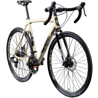 Galano Gravel STI 700c Gravel Bike Cross Rennrad creme/anthrazit